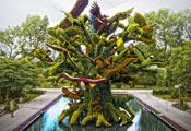 Зелёная скульптура из Ботанического сада Монреаля