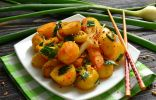 Жареный молодой картофель в специях по-индийски