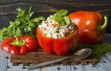 Перец, фаршированный творогом — закуска из перца и творога