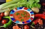 Овощной суп-пюре с овсяными отрубями на курином бульоне