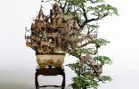 Бонсай-замки от художника Таканори Айба