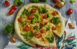 Постная пицца с брокколи и тофу