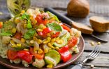 Запечённые овощи с кускусом по-мароккански