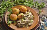 Свиные почки в сметане с луком и картошкой
