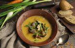 Ароматный грибной крем-суп с чечевицей