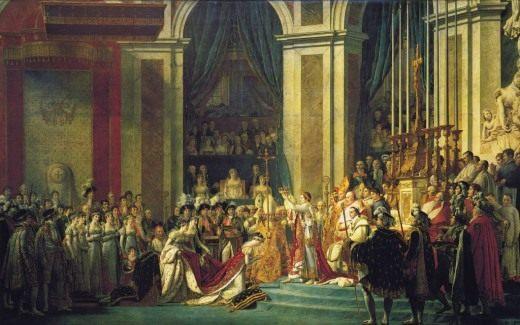 Жак Луи Давид. Посвящение императора Наполеона I и коронование императрицы Жозефины в соборе Парижской Богоматери 2 декабря 1804 года, 1806—1807