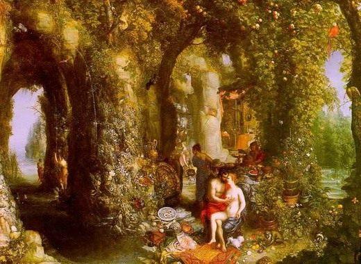 Ян Брейгель Старший. «Одиссей и Калипсо на острове Огигия».