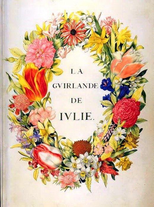 Обложка к сборнику стихов Демаре «Венок для Юлии»