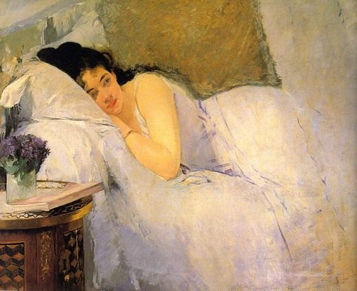 Ева Гонсалес, Утреннее пробуждение. 1876.
