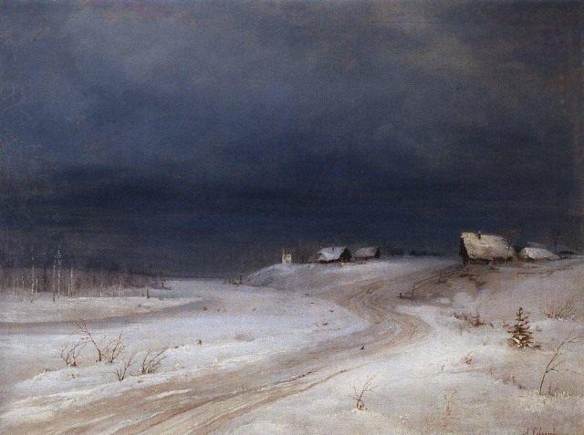 А.К. Саврасов, Зимний пейзаж (1880г.)