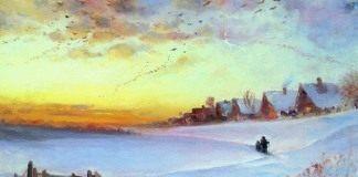 Саврасов А.К. Зимний пейзаж. Оттепель. 1890-е