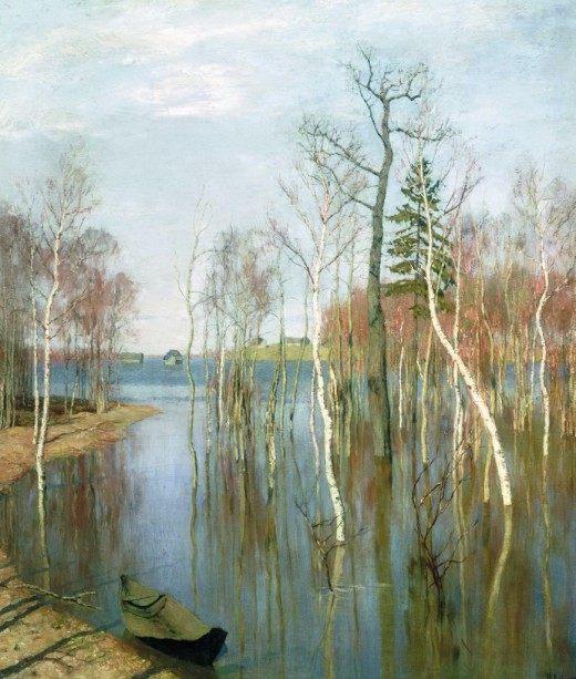 И. И. Левитан, Весна - большая вода. (1897г.)