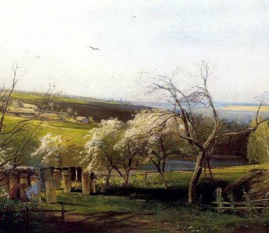 А. К. Саврасов Сельский вид (1867г.)