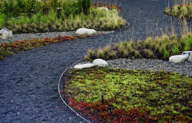 Гравийная садовая дорожка