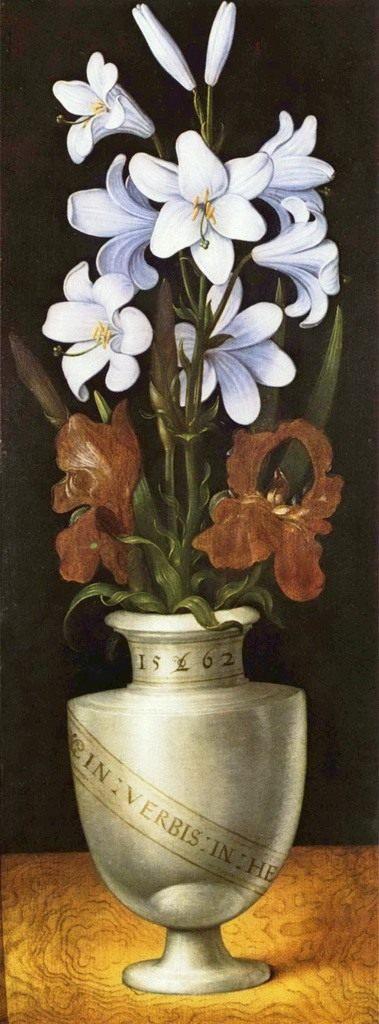 """Ринг Лудгер Tом """"Ваза с цветами"""" 1562"""