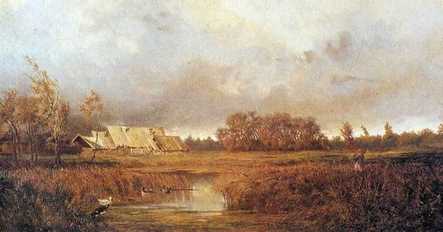 Волков Ефим Ефимович. Болото осенью. 1871.