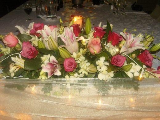 Свадебная цветочная композиция