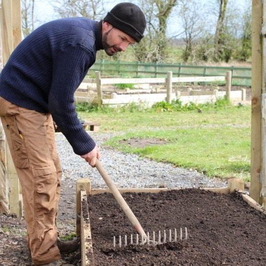 Заранее подготовьте почву в месте посадки томатов