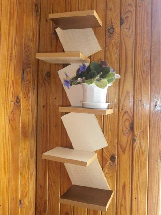 деревянные полочки для цветов