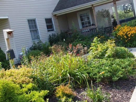 Вид на палисадник перед домом