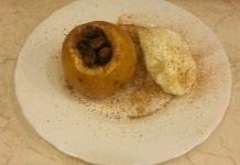 Печёные яблоки с мёдом и сухофруктами