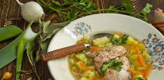 Рыбный суп. Уха из лосося