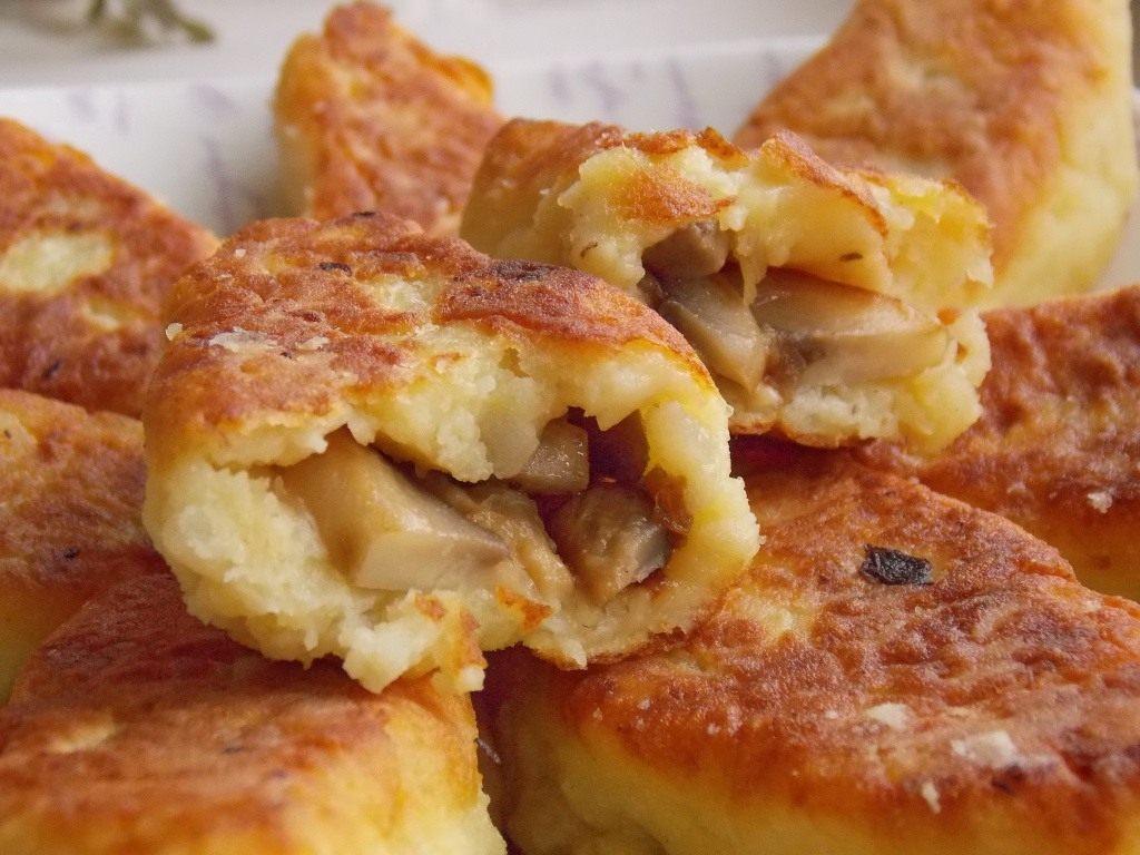 рецепт с фото картофельные котлеты с грибами