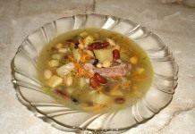 Суп фасолевый с ребрышками