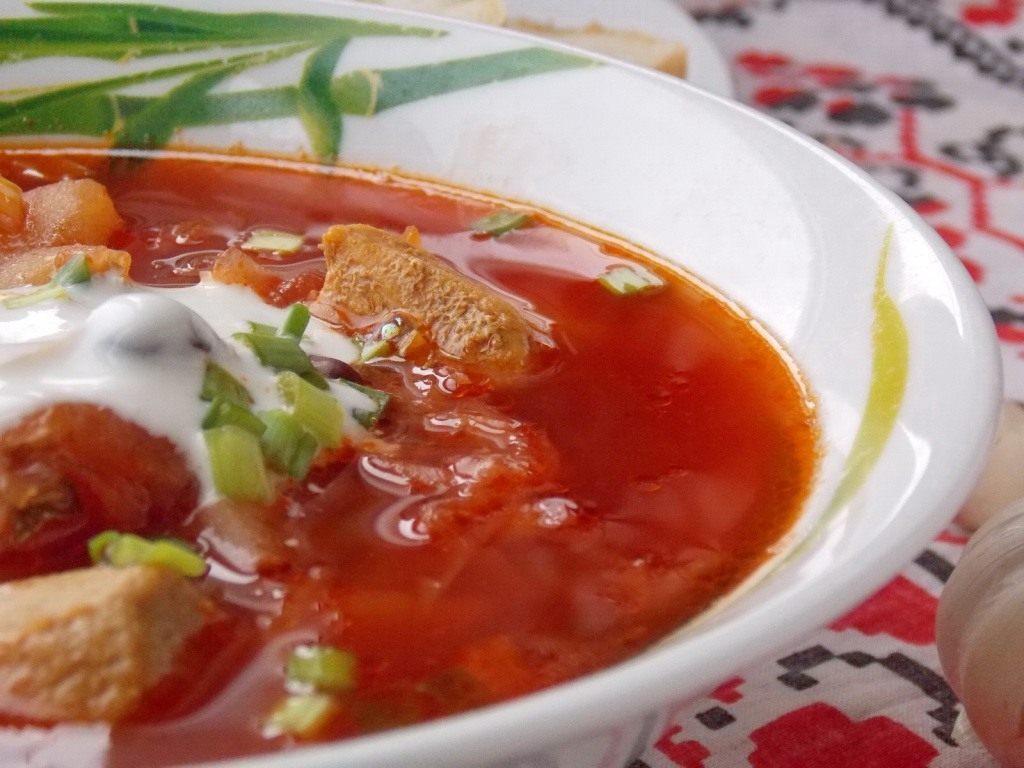борщ рецепт на сале с фасолью