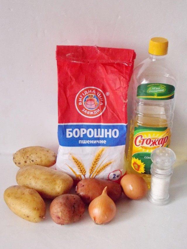 Ингредиенты для картофельных дерунов – драников