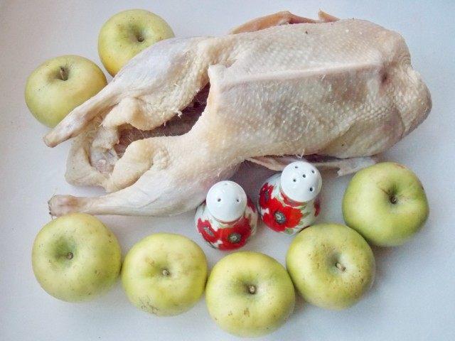 Утка с яблоками, набор продуктов