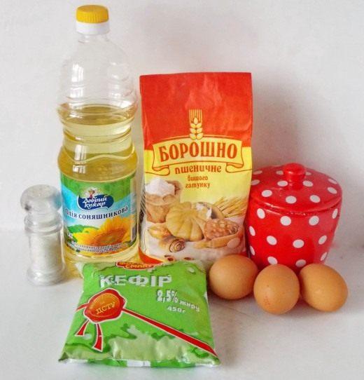 Продукты для приготовления Оладьев