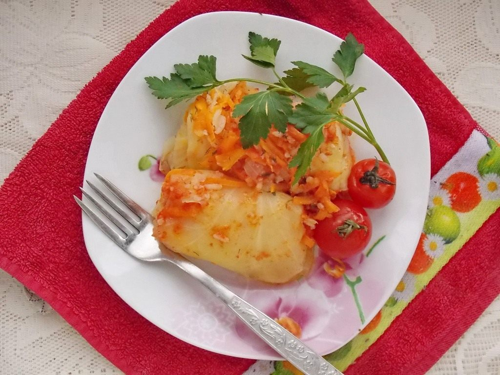 Голубцы овощные без риса рецепт с пошагово