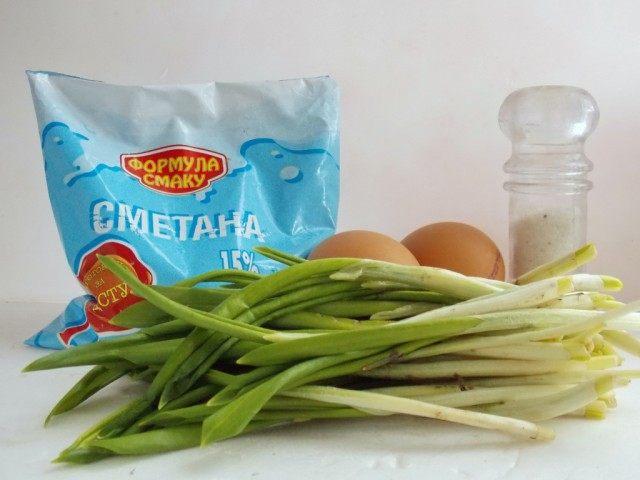 Ингредиенты для салата из Черемши
