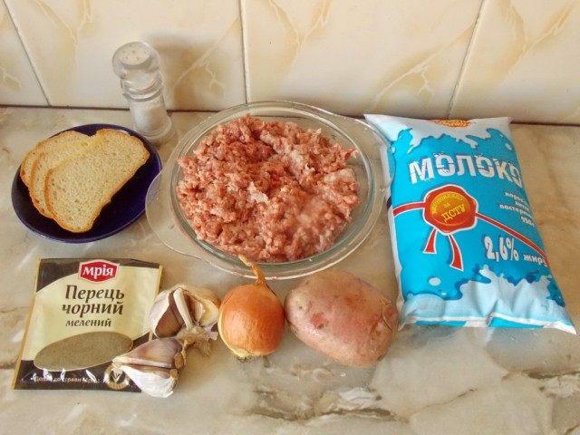 Ингредиенты для приготовления домашних котлет