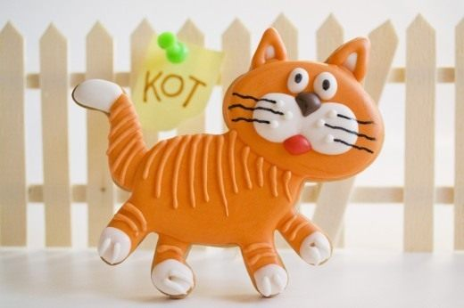 Песочное печенье с корицей «Сладкий кот»
