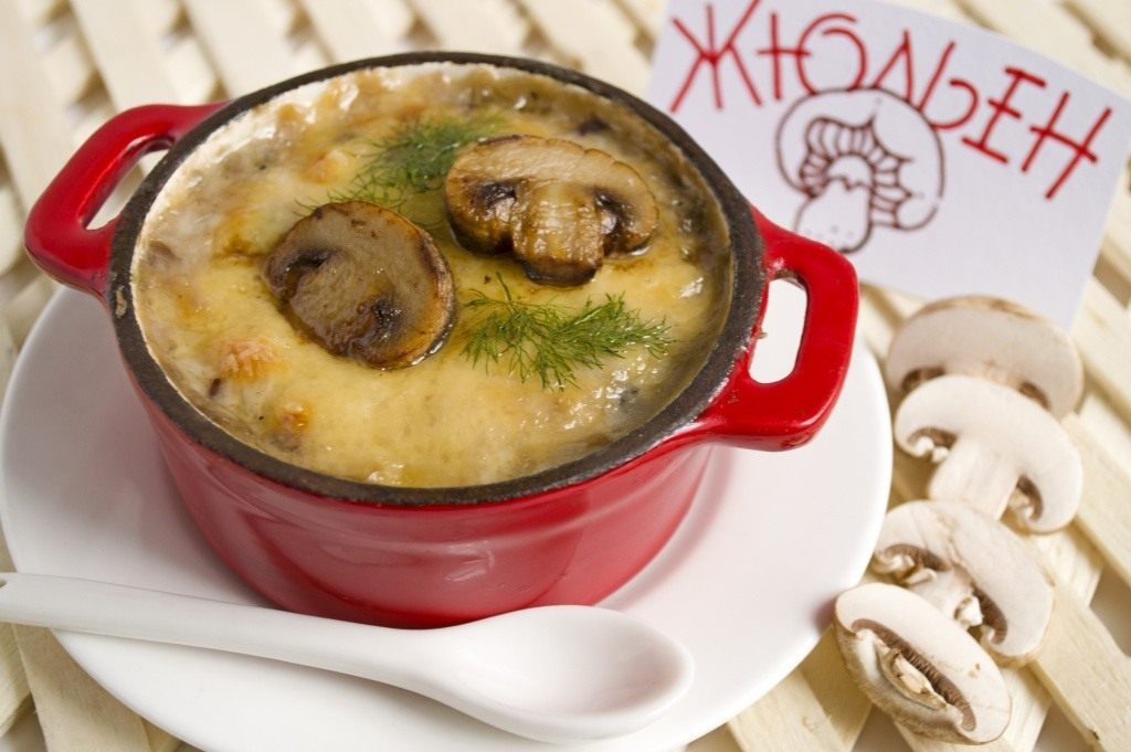 Жульен из лесных грибов со сливками рецепт