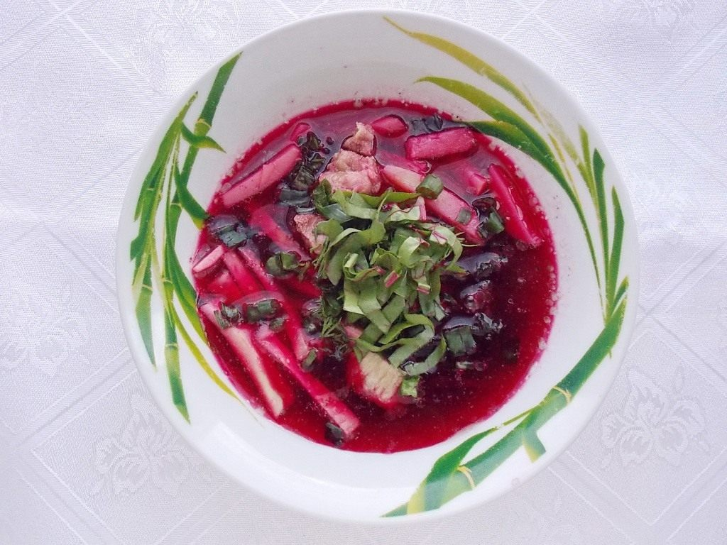 Суп из листьев свеклы пошаговый рецепт с фото