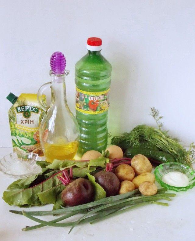Ингредиенты для приготовления свекольника