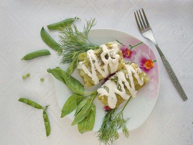 Голубцы со шпинатом