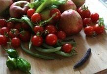 Урожай овощей и фруктов