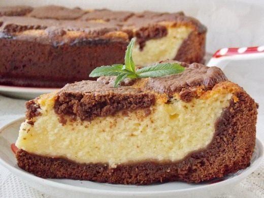 Творожно-шоколадный пирог Жираф