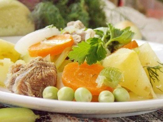 Рагу из молодых овощей