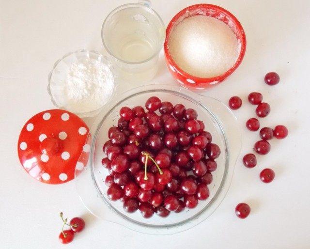 Ингредиенты для вишнёвого киселя