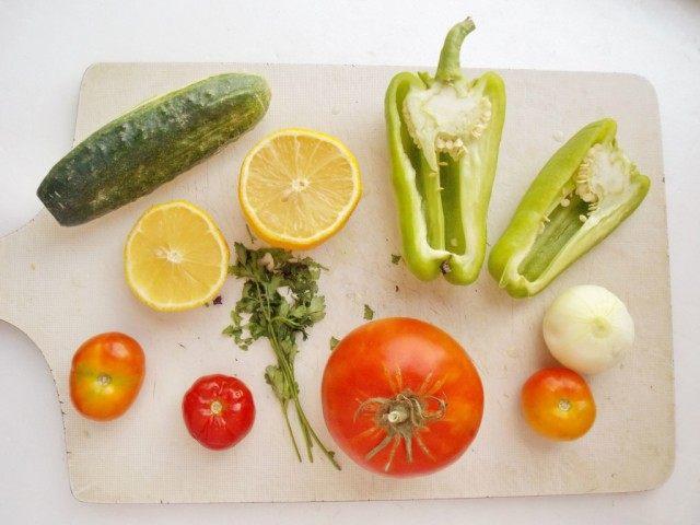 Овощи для томатного супа Гаспачо