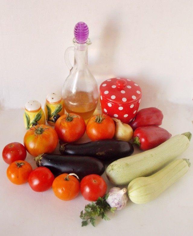Ингредиенты для приготовления рататуя