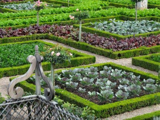 Оформление огорода в стиле барокко
