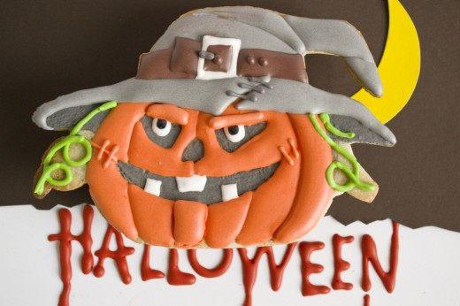 Печенье на Хэллоуин «Тыква Джек»