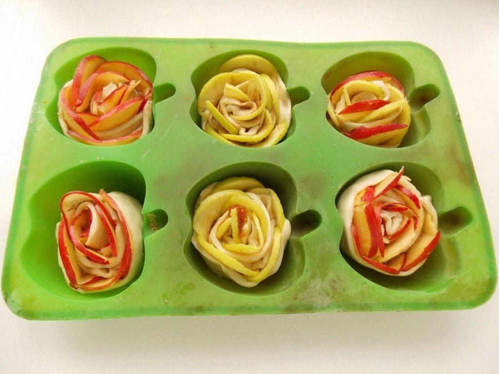 Розочки с яблоками рецепт с пошагово