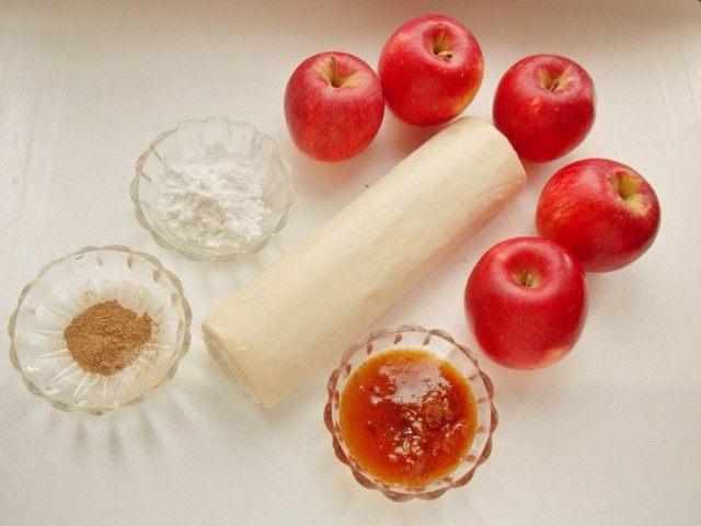 Ингредиенты для приготовления яблочных розочек